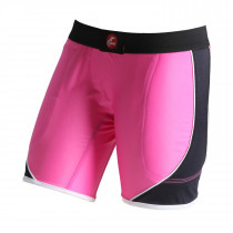 WOMEN'S CROSSOVER SLIDING SHORTS W/FOAM PINK BASE COLOR
